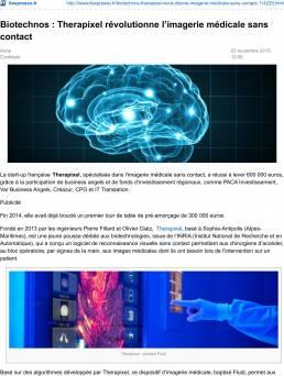 Biotechnos : Therapixel révolutionne l'imagerie médicale sans contact